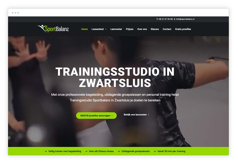 actieknoppen op website cta
