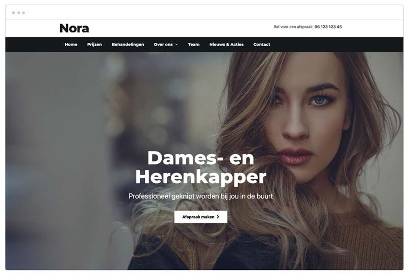 dames en heren kapper nora website