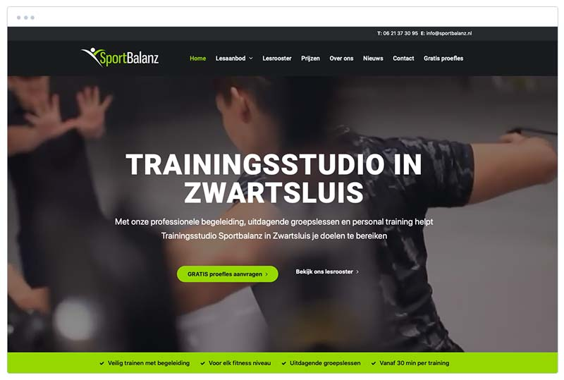 trainingsstudio sportbalanz zwartsluis fitness website