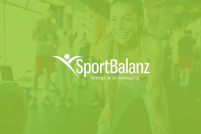 website en huisstijl lancering trainingsstudio sportbalanz