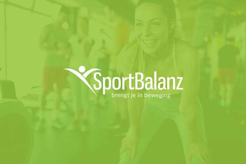 website en huisstijl lancering trainingsstudio sportbalanz