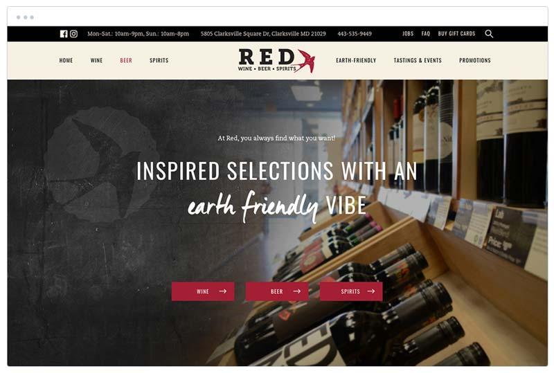 website ontwerp red
