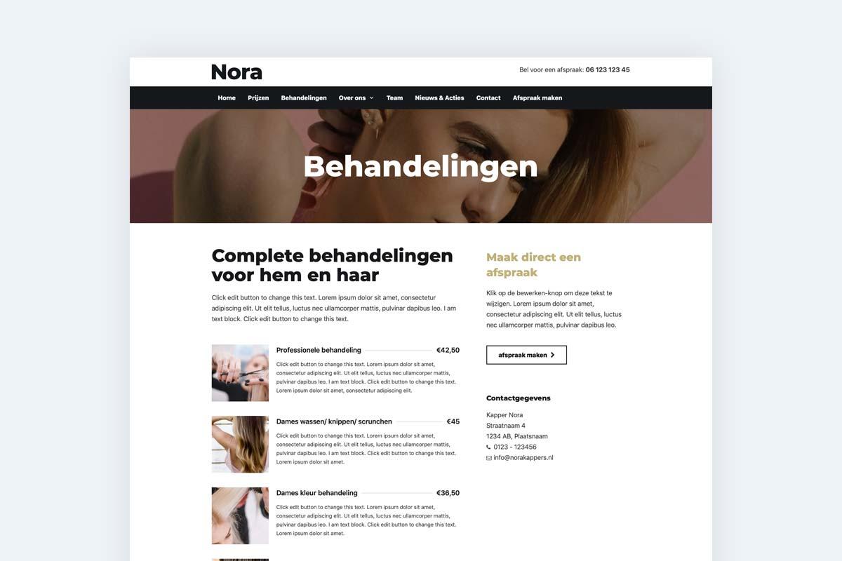 eigen-kapper-website-maken