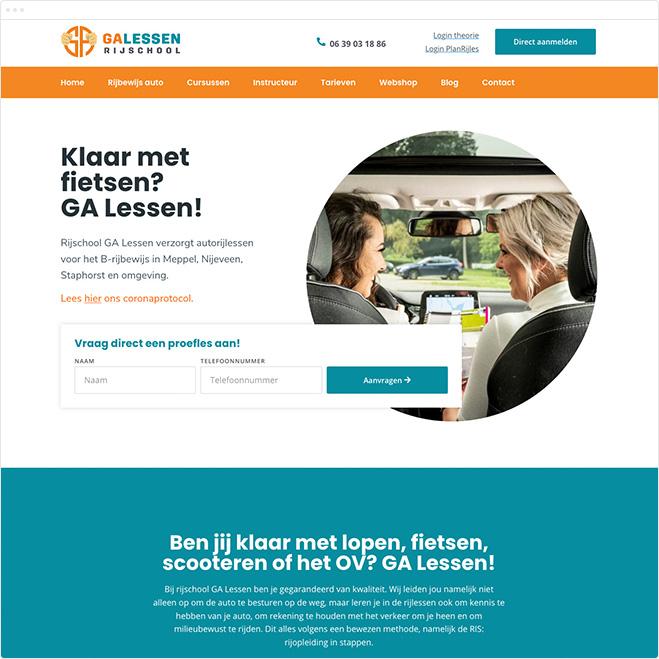 webdesign-rijschool-ga-lessen